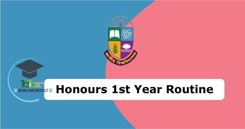 Honours 1st Year Exam Routine