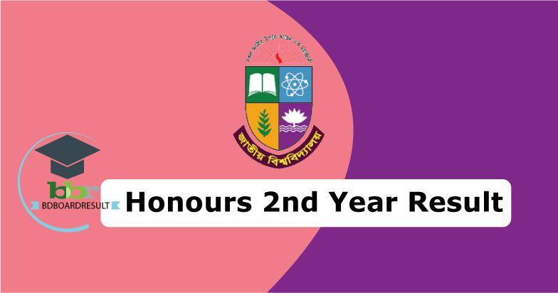 Honours 2nd Year Exam Resutl