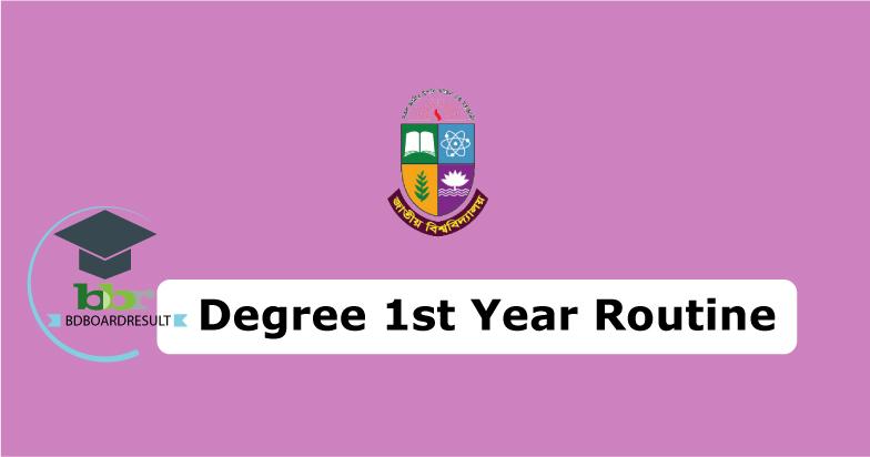 degree 1st year Routine